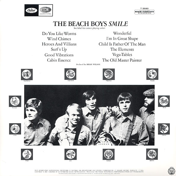 SMiLE by The Beach Boys - back cover.