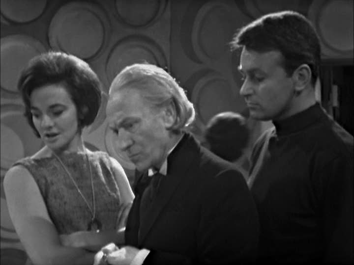 Barbara Wright, Doctor Who and Ian Chesterton in Doctor Who And The Sensorites (BBC1, 1964).
