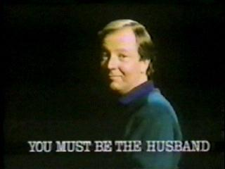 Title caption of You Must Be The Husband (BBC1, 1987-88), with Tim Brooke-Taylor.