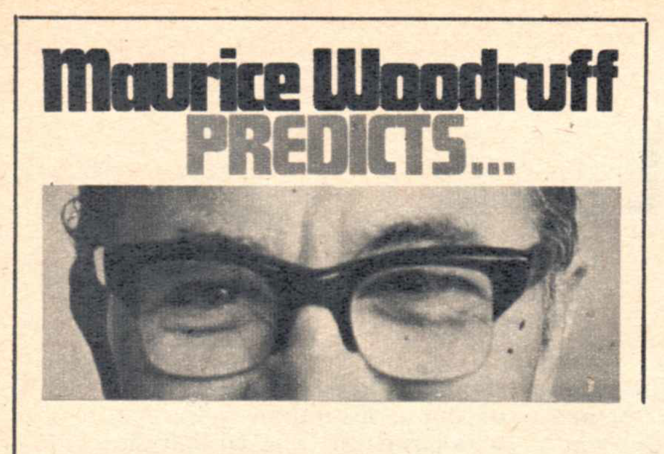 TV Times resident astrologer Maurice Woodruff.