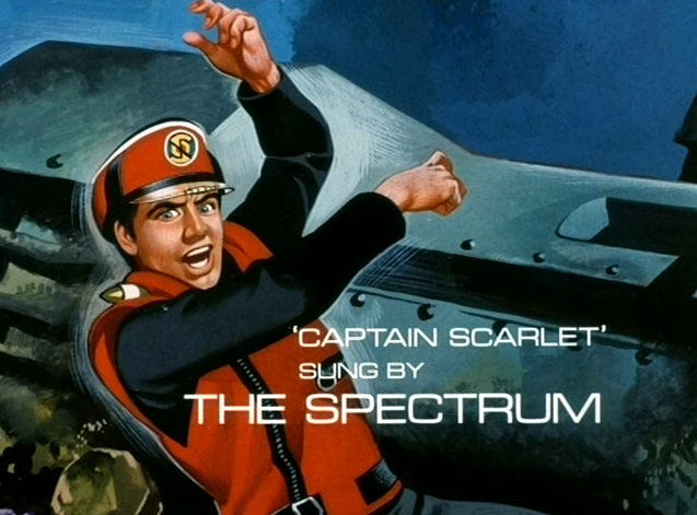 Credit for The Spectrum from end titles of Captain Scarlet And The Mysterons (ITC, 1967).