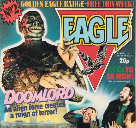 Doomlord from Eagle, as discussed by Tim Worthington and writer Martin Ruddock in Looks Unfamiliar.