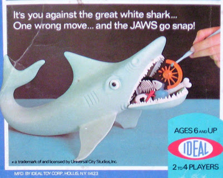The Jaws Game (Ideal, 1975) - listen to Tim Worthington and Lisa Parker and Andrew Trowbridge talking about it in Looks Unfamiliar.