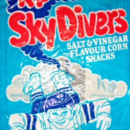 KP Sky Divers, as discussed by Tim Worthington and entertainment journalist Steve O'Brien in Looks Unfamiliar.