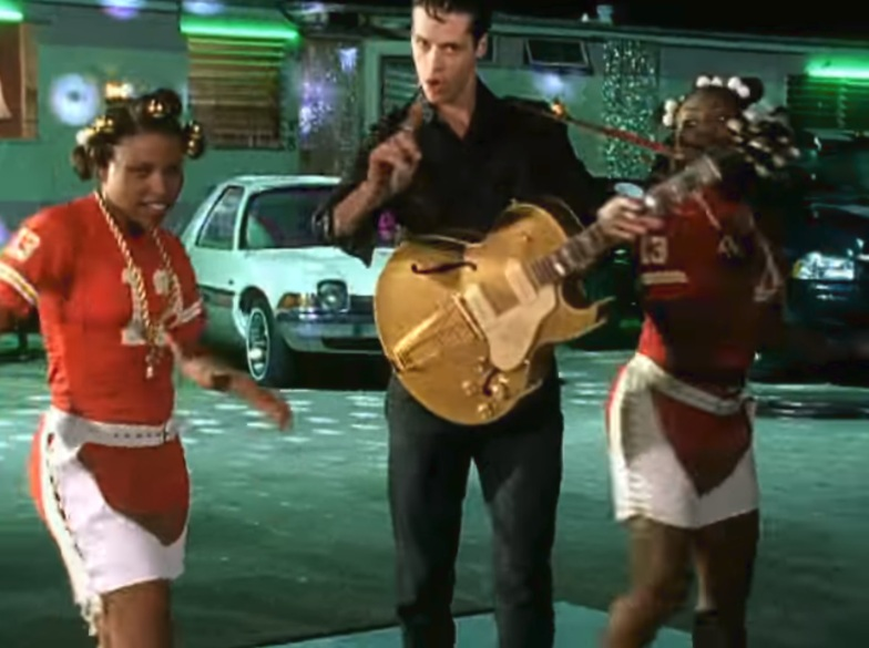 Jimmy Ray in the video for Are You Jimmy Ray?.