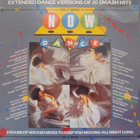 Cover of Now Dance (EMI/Virgin, 1985), the first ever Now That's What I Call Music! spinoff.