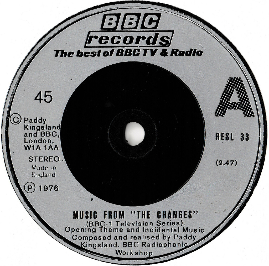 """Music From """"The Changes"""" by Paddy Kingsland and the BBC Radiophonic Workshop (BBC Records And Tapes, 1976)."""