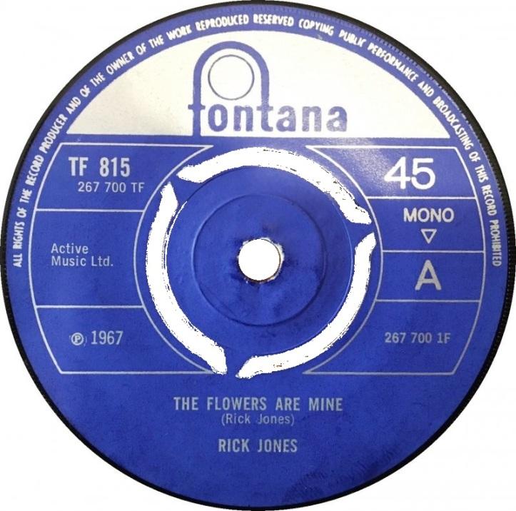 The Flowers Are Mine by Rick Jones (Fontana, 1967)