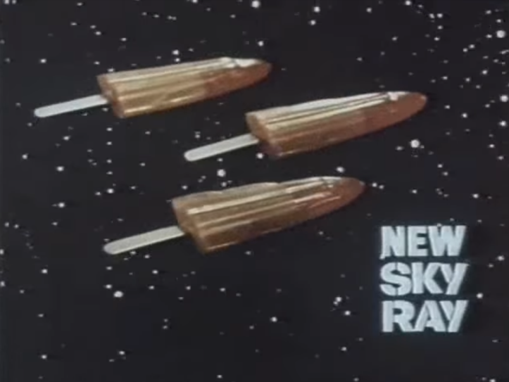 The Doctor Who Sky Ray ice lollies in action!