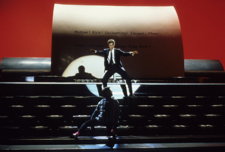 David Bowie in Absolute Beginners (1986), as discussed by Tim Worthington and Rich Nelson in Looks Unfamiliar.