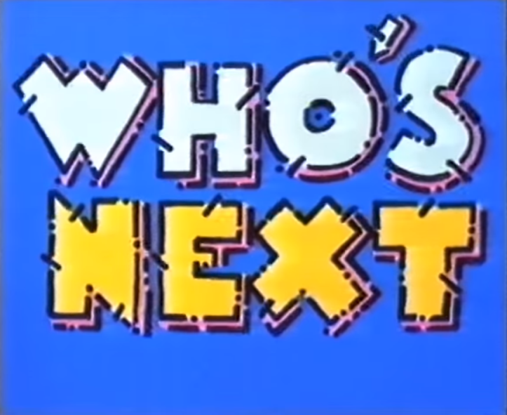 Who's Next (ITV, 1987), as discussed by Tim Worthington and writer Jack Kibble-White in Looks Unfamiliar.