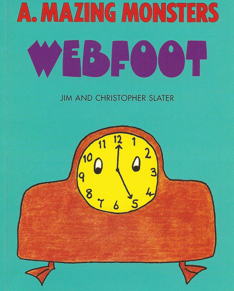 A. Mazing Monsters - Webfoot by Jim and Christopher Slater - listen to Mark Thompson and Tim Worthington talking about it in Looks Unfamiliar.