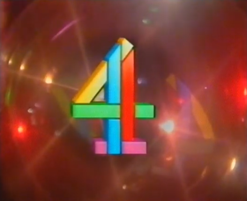 Channel 4's Christmas logo from 1991; listen to Garreth F. Hirons and Tim Worthington talking about Malcolm McLaren's festive oddity The Ghosts Of Oxford Street in Looks Unfamiliar here!   at Christmas, as discussed by Tim Worthington and writer and musician Garreth F. Hirons in Looks Unfamiliar.