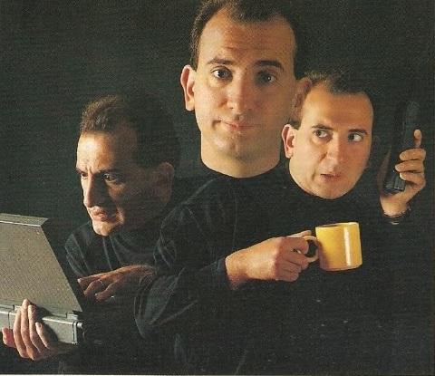 Armando Iannucci on Radio 1, 1993.