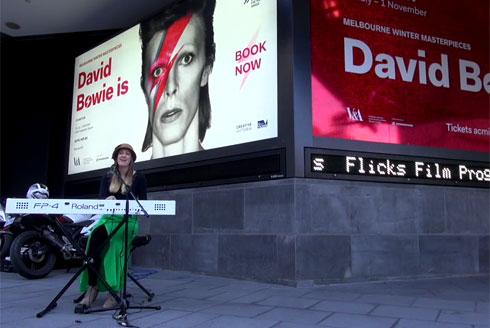 A Bowie Busker.