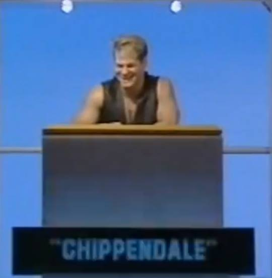 """""""Chippendale"""" appearing on Celebrity Squares in 1993."""