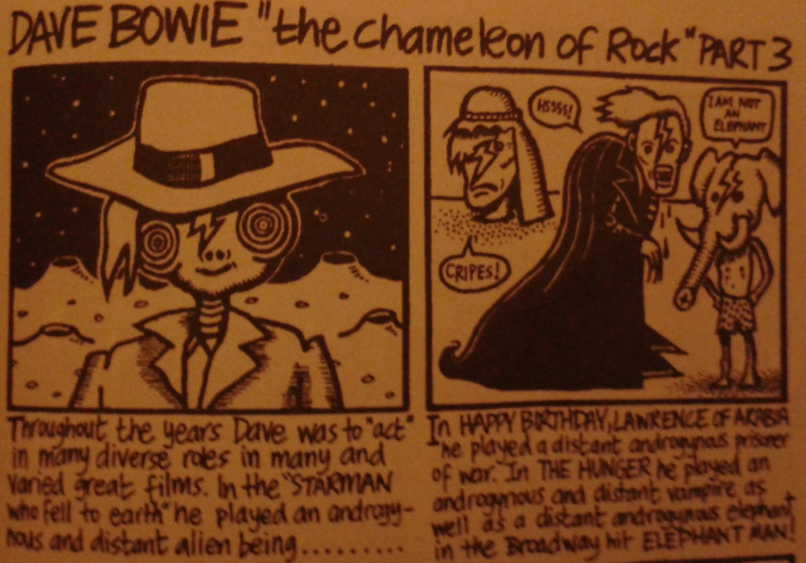 David Bowie's film career, as seen by the NME's Great Pop Things.