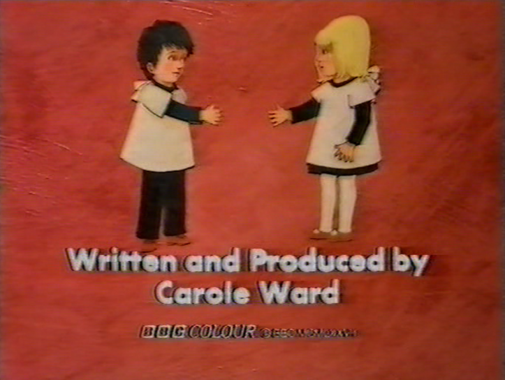 Carole Ward's credit from the end titles of How Do You Do! (BBC1, 1977).