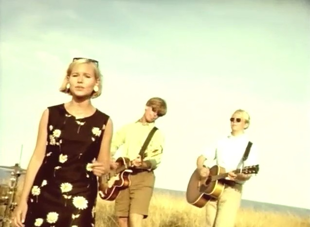 The Cardigans in the video for Sick And Tired.