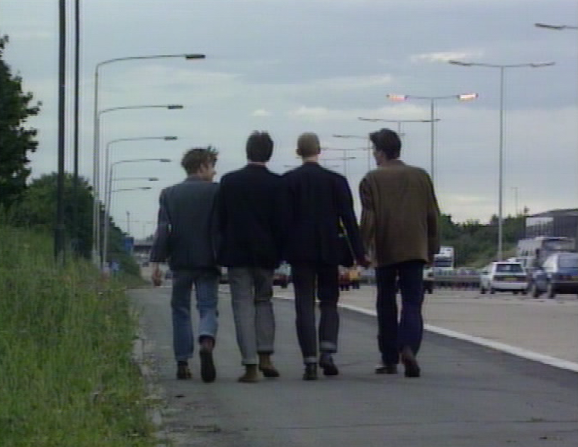 Damon Albarn, Graham Coxon, Dave Rowntree and Alex James from Blur in Starshaped (1993).