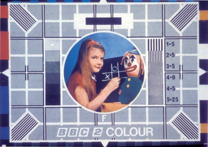 BBC Test Card F, as seen on BBC2.