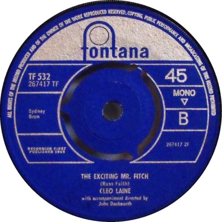 The Exciting Mr. Fitch by Cleo Laine.