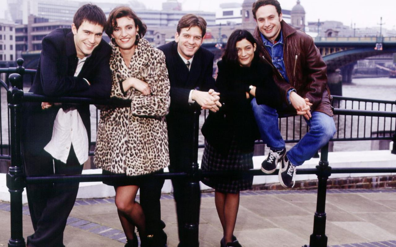 Miles, Anna, Warren, Milly and Egg from This Life (BBC2, 1996-97).