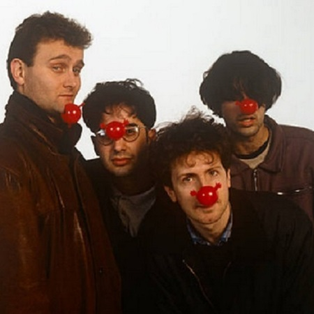 The Mary Whitehouse Experience - Hugh Dennis, David Baddiel, Steve Punt and Rob Newman - on Comic Relief Day in 1991.