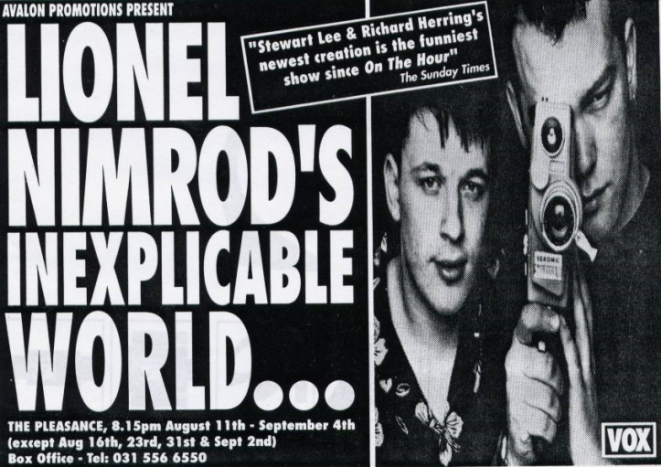 Richard Herring and Stewart Lee in Lionel Nimrod's Inexplicable World.