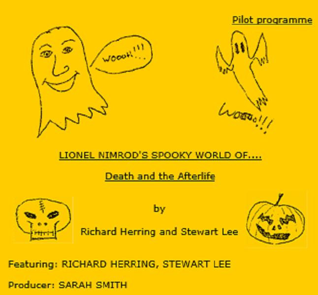 Pilot script front page for Lionel Nimrod's Inexplicable World.