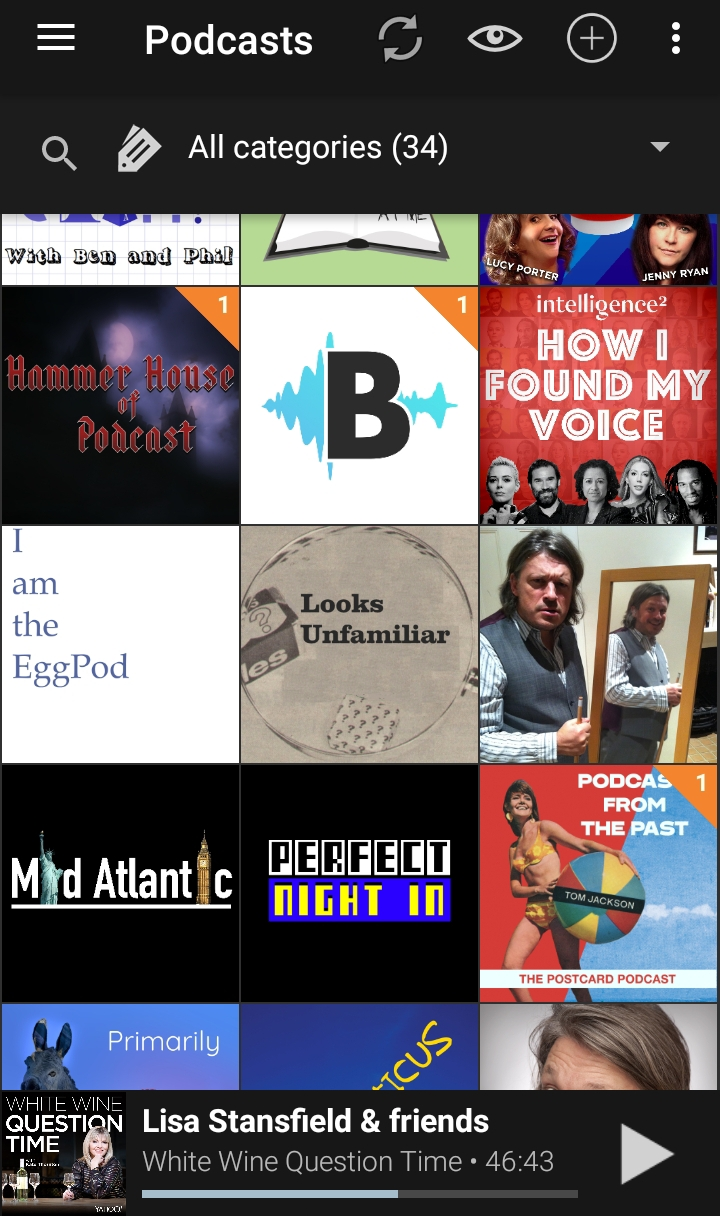 Some of the podcasts I listen to. And Looks Unfamiliar