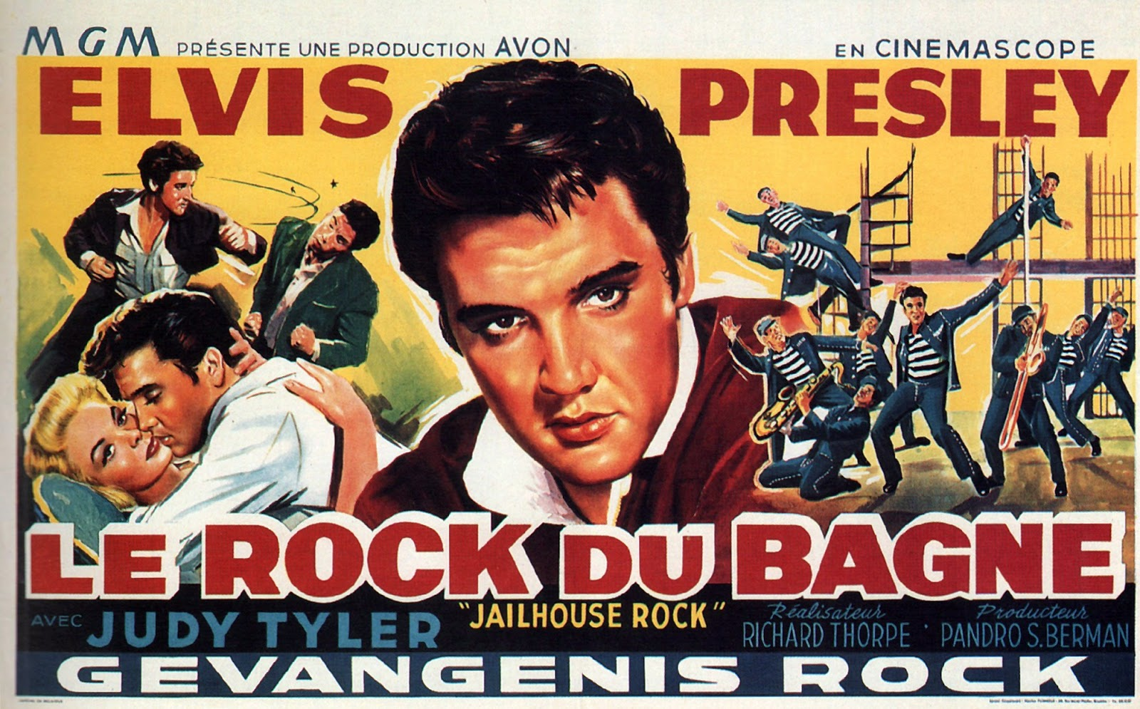 French poster for Jailhouse Rock (1957).