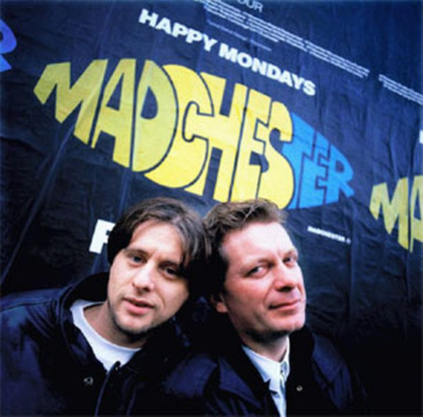 Tony Wilson and Shaun Ryder.