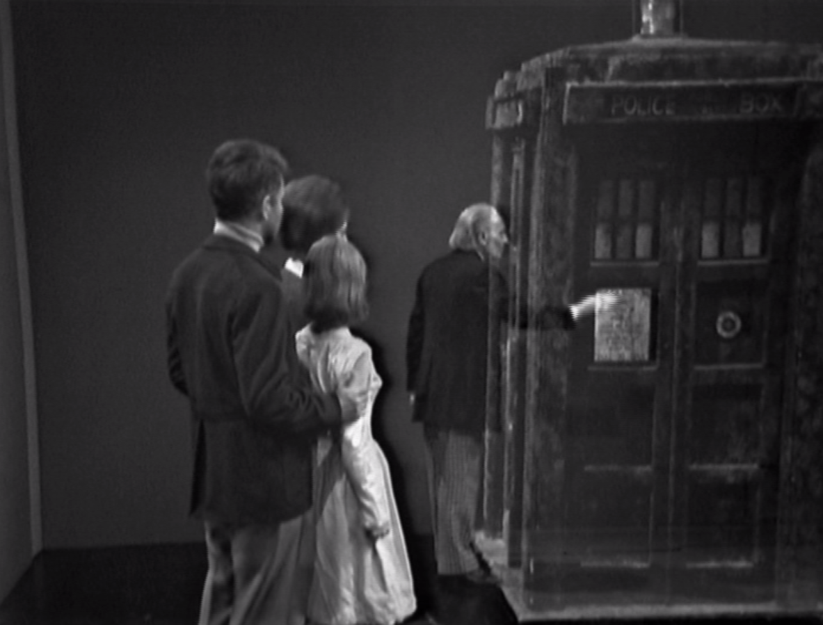 William Russell, Jacqueline Hill, Maureen O'Brien and William Hartnell in Doctor Who - The Space Museum (BBC1, 1965).