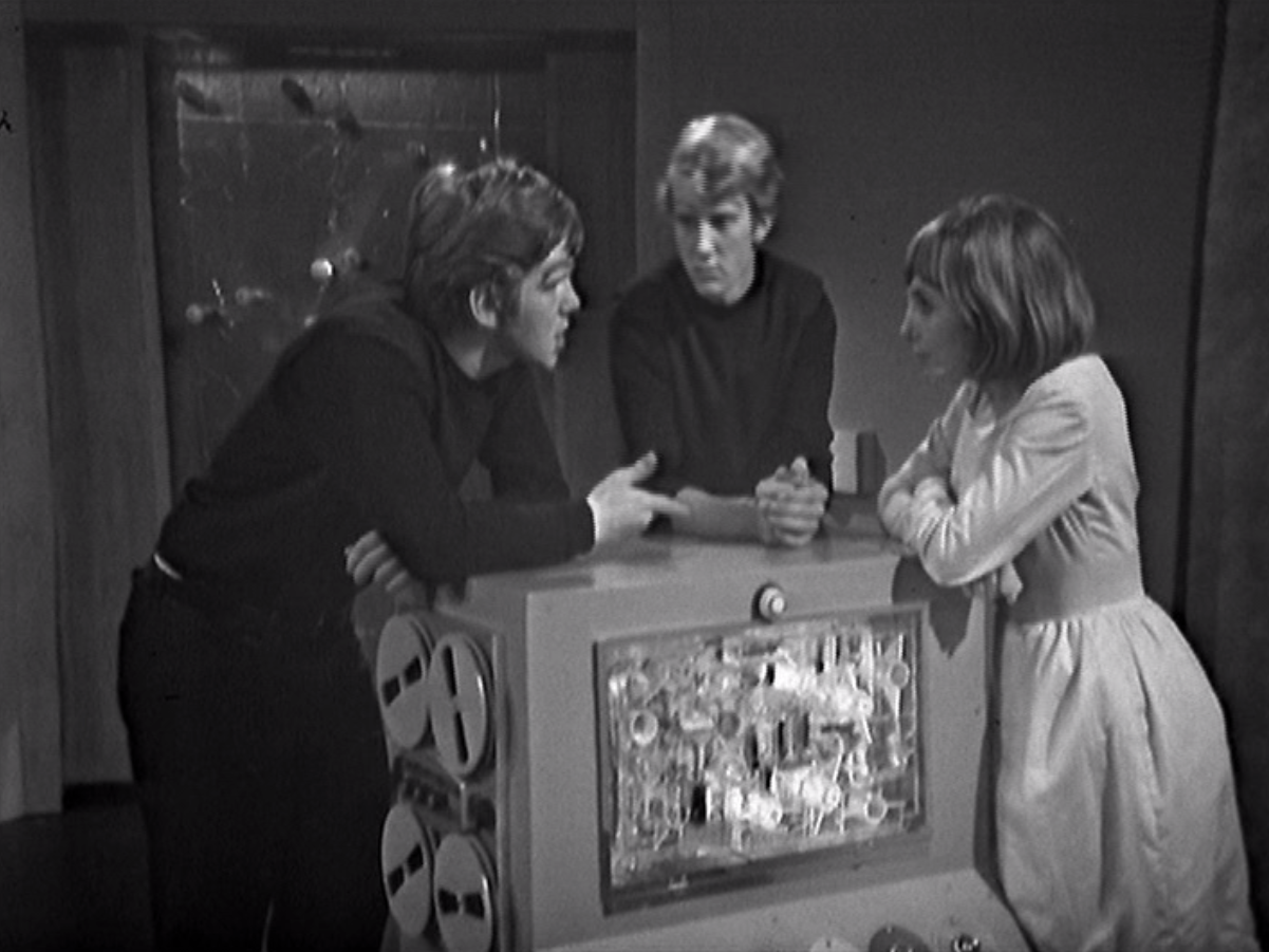 Vicki meets a couple of Xerons in Doctor Who - The Space Museum (BBC1, 1965).