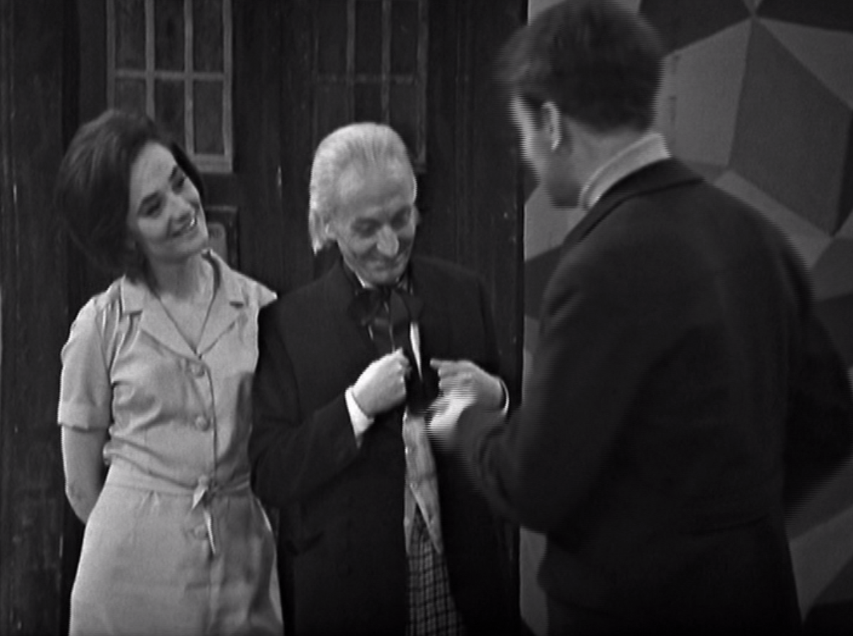 Jacqueline Hill, William Hartnell and William Russell in Doctor Who - The Space Museum (BBC1, 1965).