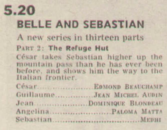 Radio Times billing for Belle And Sebastian.