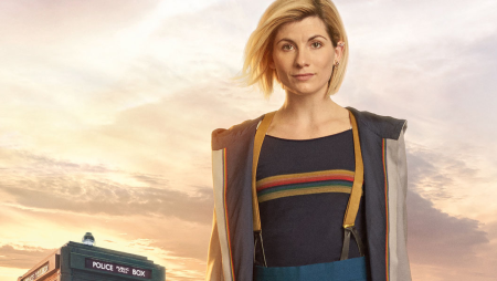 Jodie Whittaker as Doctor Who, as discussed by Tim Worthington, Emma Burnell and Steve Fielding in Looks Unfamiliar.