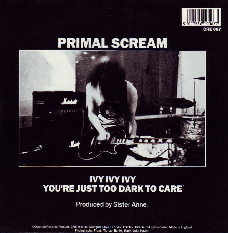 Ivy Ivy Ivy by Primal Scream - single back cover.