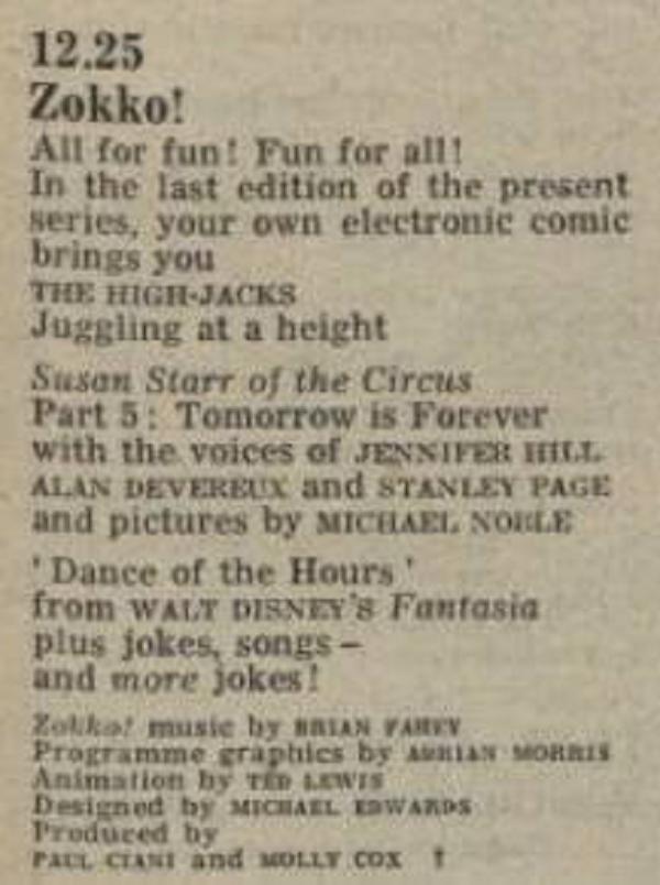 Zokko! (BBC1, 1970)
