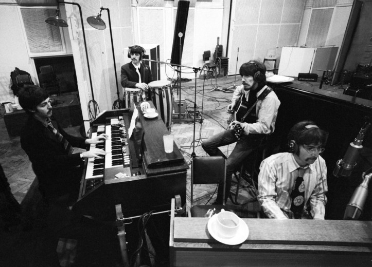 The Beatles in Abbey Road around the time of Carnival Of Light.
