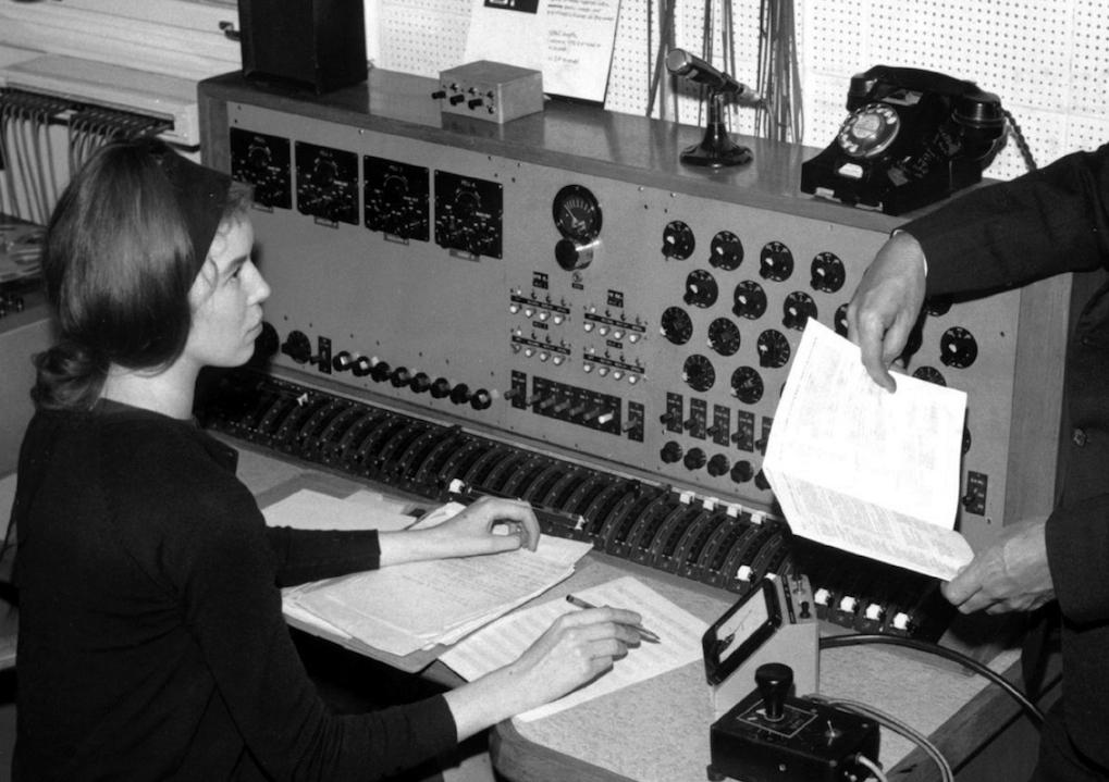 Delia Derbyshire of the BBC Radiophonic Workshop.