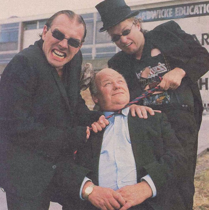 Rik Mayall, Ade Edmondson and Roy Kinnear in Hardwicke House.