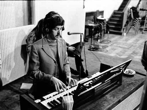 Paul McCartney in Abbey Road around the time of Carnival Of Light.