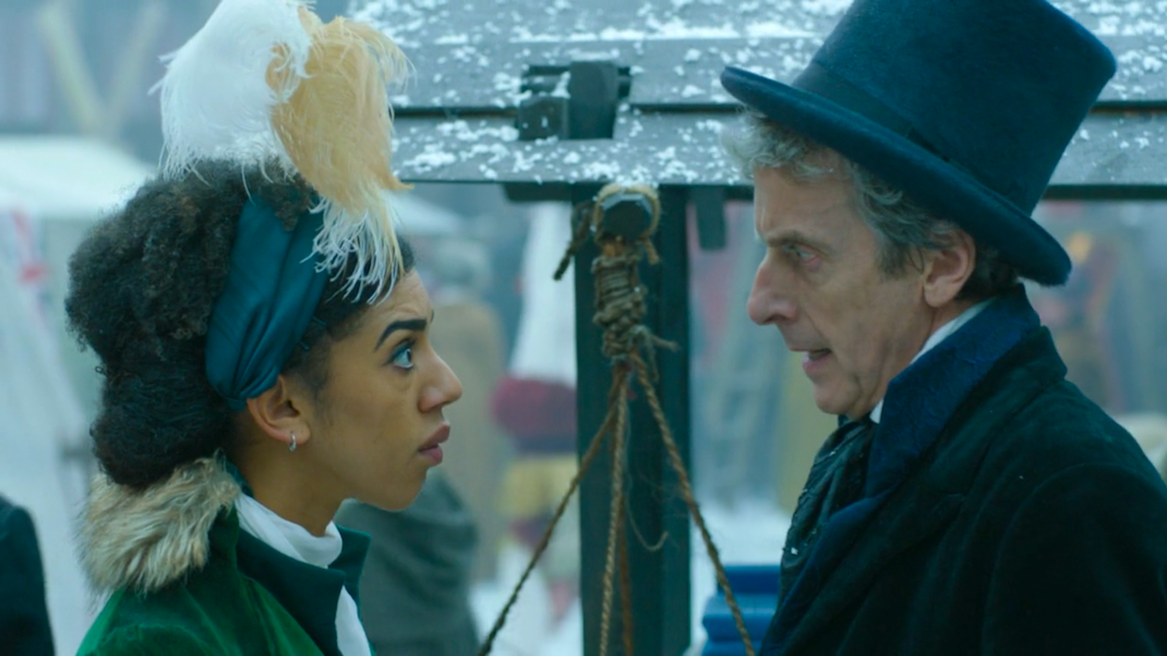 Peter Capaldi and Pearl Mackie in Doctor Who - Thin Ice (BBC1, 2017).