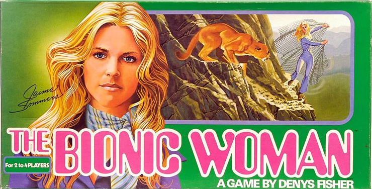 The Bionic Woman board game by Denys Fisher.