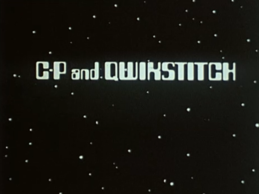 CP And Qwikstitch (BBC1, 1985).