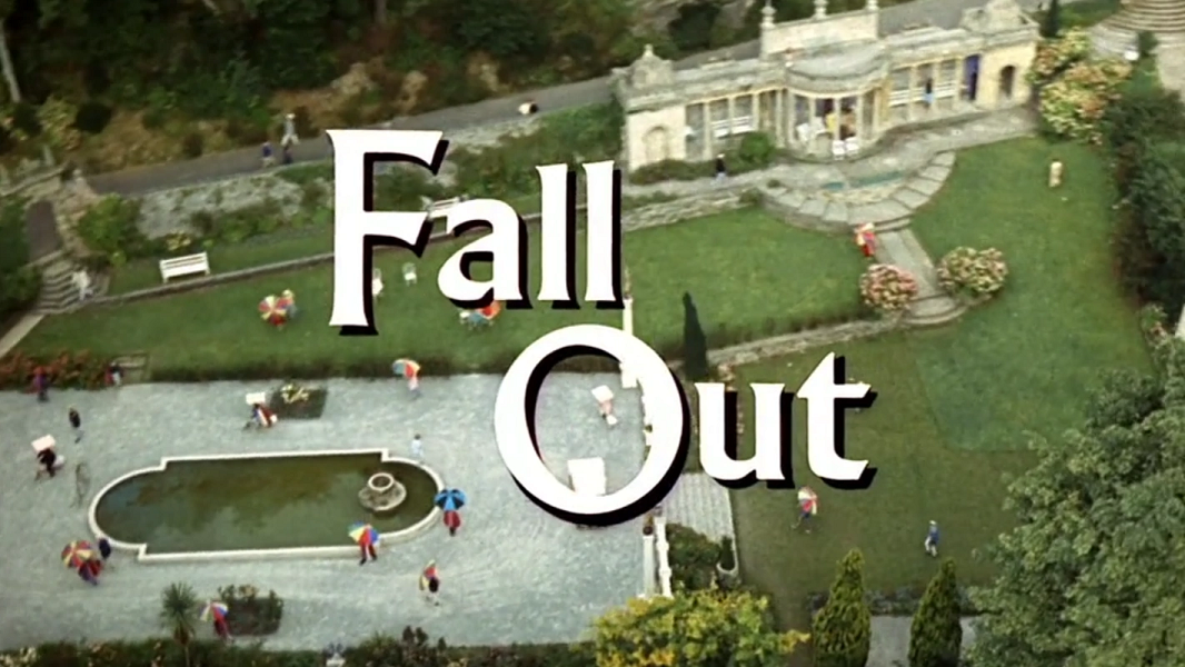 Title caption for Fall Out, the final episode of The Prisoner (ITV, 1967).