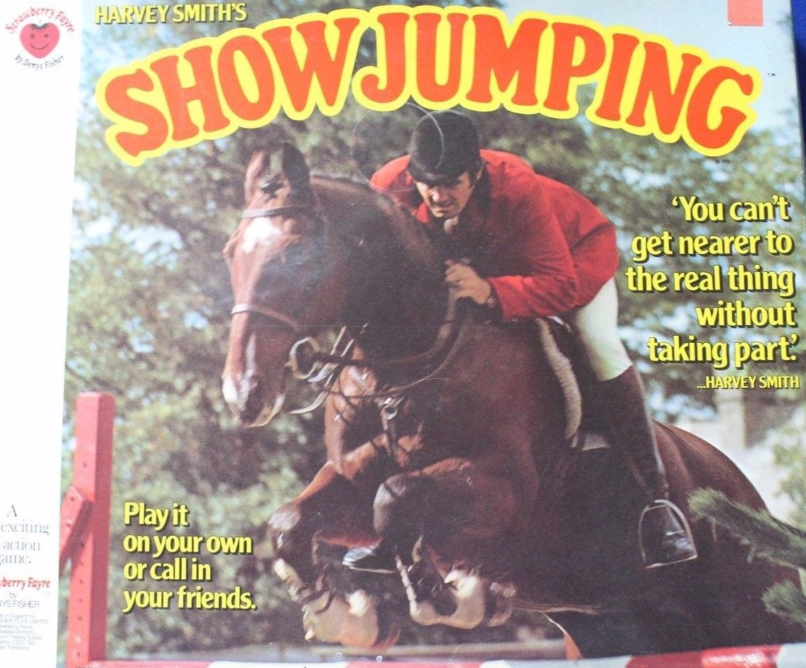 Harvey Smith's Showjumping board game by Denys Fisher.
