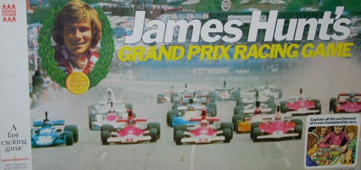 James Hunt's Grand Prix Racing board game by Denys Fisher.